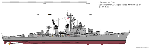USS Mitscher DL-2 (August 1953) - Measure US 27 by ColosseumSB