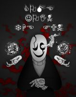 Gaster Tshirt by Who-speakes-in-hands