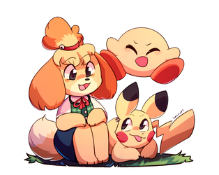 Isabelle Joins the Party! by honrupi