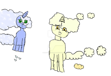 Common Cold and Pollen Cloud by KaguyaTsukiHime