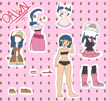 Paper Doll Dawn by figwine