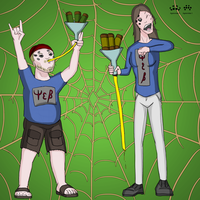 March Spider Art Challenge Day 12 and 13 by SpiderPope