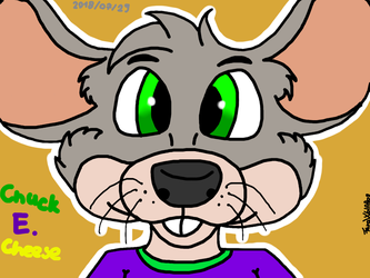 Chuck e cheese in my style (maybe a redraw?) by FaraWolfdog
