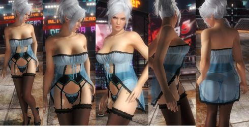 Christie blue lace by funnybunny666