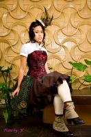 Steam Punk dress n hat by MyCosPlayPhotos