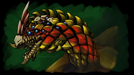 Creepy Monster Hunter - Selregios by DarkmaneTheWerewolf