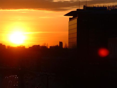 Sunset in Warsaw by Lechtonen