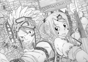 natsu and lucy by flashtheteddy