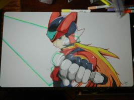 Custom Playmat: Zero (Mega Man Zero Series) by ccayco