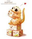 Daily Paint 2130. Newtgat by Cryptid-Creations