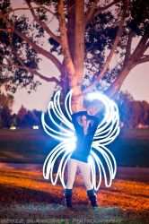 Light Painting with Kitty by RobieBlair