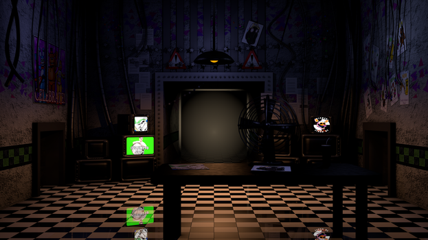 FNAF 2 Office Model by me by AndyDatRaginPurro