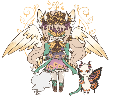 [MYO Blind Lace Amaranto Event]Poisoned Sunflowers by Tinypaperdresses
