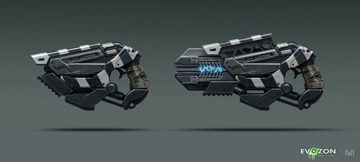 Sci-fi Weapon concept by norbface