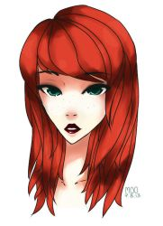 Red Haired Girl by lumiorah
