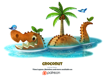Daily 1345. Croconut by Cryptid-Creations