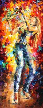 City Vibes 1 by Leonid Afremov by Leonidafremov