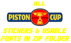 Piston Cup Stickers And Decals DL by FavoriteArtMan