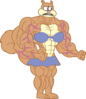 Muscle Sandy (Color by NixTack) by TheFranksterChannel
