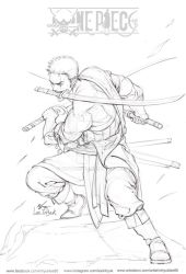One Piece - Roronoa Zoro (sketch) by inhyuklee