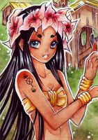 ACEO Native Girl by Miyasaki-Kogaji