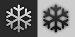 Snow Flake (plain weather icon style) by MerlinTheRed