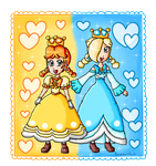 Daisette and Rosalette by ninpeachlover