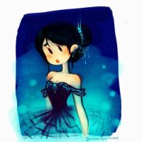 The Blue Ballerina by MarionetteDolly