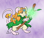 [Commission] Mouse Druid by raizy