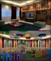 Toy Room and Living Area by kulayan3d