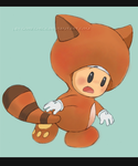 Toad tanooki suit by GoreChick