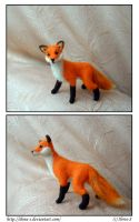 Needle felted fox by Ilona-S