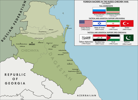 'The Caucasian Pressure Cooker' - Map of Chechnya by KitFisto1997