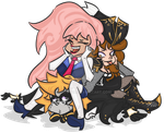 GaiaOnline - Minty,Fantasy and Peten by ThePeten