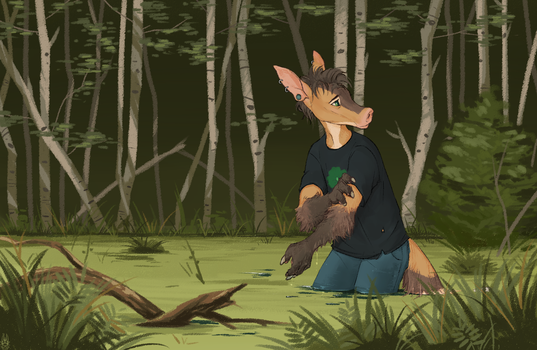 Lost at the Swamp (YCH) by Kate-Venom