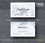 French Horizon Business Card - FREE Download by khaledzz9