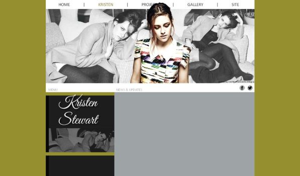 free layout - kristen stewart by JulieKrocova