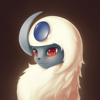 A Blushing Absol Has Appeared by streetdragon95