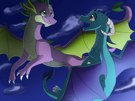 Spike and Ember by 96paperkuts