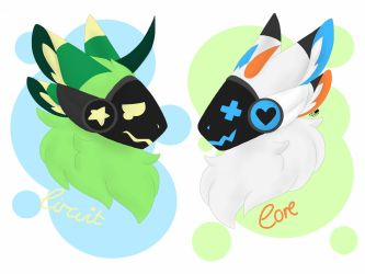 [OC] Protogen Pals~ by KingMax-Doodles