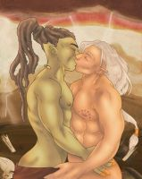Warriors in love by Caravaggia