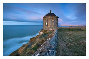 Mussenden Temple at night by Klarens-photography