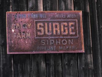 Sign on a barn by sequim