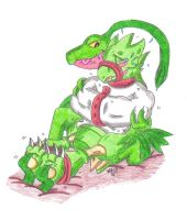 Tickle Torture Request: Scyther and Grovyle