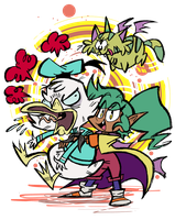 Harpy Gee and Pumpkin by EeyorbStudios