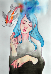 Swimming in thoughts by Yocebo