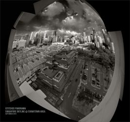 Singapore Stitched Skyline by clarenceangelo