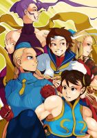 Street Fighter Alpha ladies by Essu