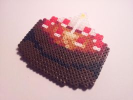 Hama Portal Cake Necklace Pendant by Retr8bit