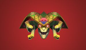 Medusa Dota 2 Low Poly Art by giftmones